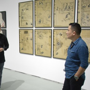 02 Media guided to visit the exhibition 290x290 - Reproduction of the History of '85 Art – Song Ling's First Domestic Solo Exhibition Opened at the Today Art Museum