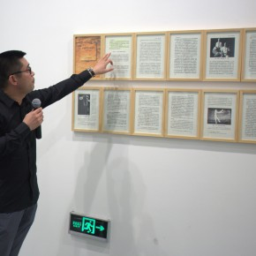 04 Curator Xia Jifeng guided the media to visit the exhibition 290x290 - Reproduction of the History of '85 Art – Song Ling's First Domestic Solo Exhibition Opened at the Today Art Museum