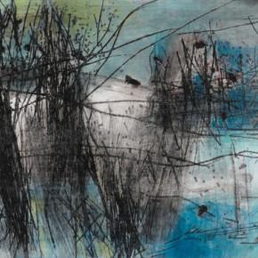 "07 Tang Chenghua ""Passages Through Nature No.18"" mixed media on paper 63 x 162 cm 290x290 - ""Passages Through Nature – The Art of Tang Chenghua"" Opened at Beijing Today Gallery"