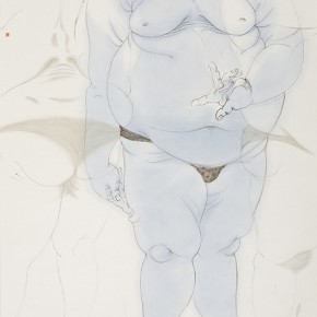11 Qin Xiuping Stand in No. 1 2010 Ink on paper 180×97cm 290x290 - Harmony in Diversity: Academic Exhibition of Qi She Arts Opening at The Hive Centre for Contemporary Art