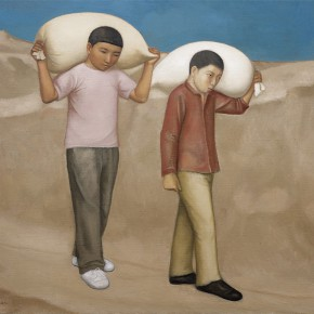 "Duan Jianwei Carrying Wheat Flour 2013 Oil on canvas 130×160cm 290x290 - The Hive Centre for Contemporary Art announces ""Appearance: Solo Exhibition of Duan Jianwei""c opening July 12"