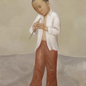Duan Jianwei, Flute, 2012;  Oil on canvas, 100×80cm