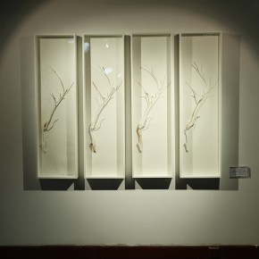 "Wei Ming Restoration Tree Branch 2012 mixed media 122x35x84 pieces 290x290 - Group Exhibition of ""Jiang Qi 3"" on View at Red Gate Gallery"