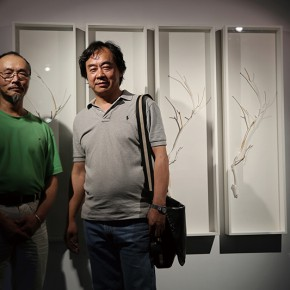 "Wei Ming stood in front of his work 290x290 - Group Exhibition of ""Jiang Qi 3"" on View at Red Gate Gallery"