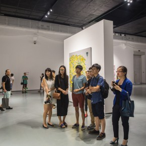 05 Media being guided through a visit to the exhibition  290x290 - Flowers and Birds: Shen Ling Solo Exhibition Opened at the Hive Center for Contemporary Art