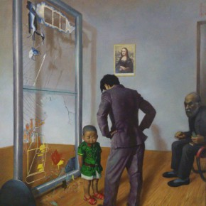 """06 Wang Xingwei """"Poor Old Hamilton"""" oil on canvas 220 x 180 cm 1996 290x290 - Pi Li: Thinking of the Present Situation of the Criticism of Painting"""