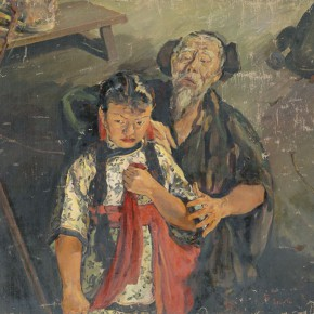 """08 Situ Qiao """"Put Down Your Whip"""" oil on canvas 124 x 177 cm 1940 collected by National Art Museum of China 290x290 - Painting With Tears – Love and Hate in Situ Qiao's Art World Opening at CAFAM"""
