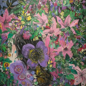 """11 Shen Ling """"Grieved Over the Years Flowers Are Moved to Tears No.6"""" 200 x 200 cm 2012 290x290 - Flowers and Birds: Shen Ling Solo Exhibition Opened at the Hive Center for Contemporary Art"""