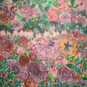 """12 Shen Ling """"Grieved Over the Years Flowers Are Moved to Tears No.5"""" 200 x 200 cm 2012 290x290 - Flowers and Birds: Shen Ling Solo Exhibition Opened at the Hive Center for Contemporary Art"""
