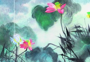 "15 Yuan Yunfu ""Lotuses Figure"" 290x202 - Yuan Yunfu and ""Tsinghua University Art Group"" Works Invitational Exhibition"