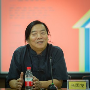 21 Zhang Guolong at the press conference 290x290 - Ten Years in One Inspection – CAFA Achievements Exhibition on Experimental Art at CAFAM