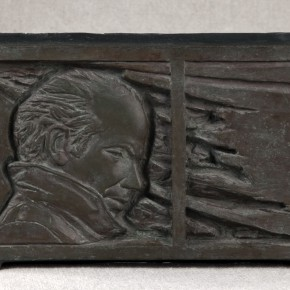 """25 Situ Jie Relief of Norman Bethune 1982 Bronze 30cm x 18cm x 3.5cm 290x290 - Exhibition of """"Casting Temperature— Second-Generation Chinese Sculptor Situ Jie"""" Opened  at CAFAM"""