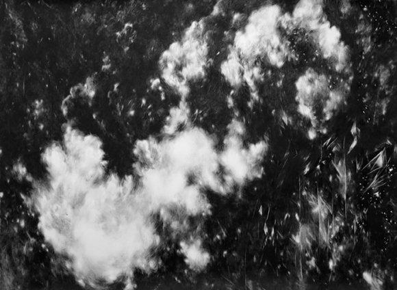 Julia Steiner, O.T., 2014; gouache on paper, 150x205cm