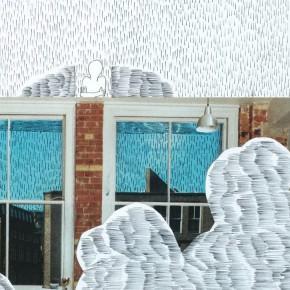 Li Fan Beyond the Clouds 1-11, 2000; collage of papercut, pen, 18×13cm