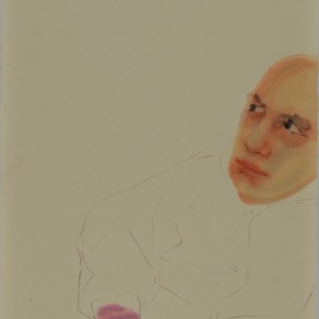 Li Fan, Cheating, 2009; acrylic on rice paper, 148x78cm
