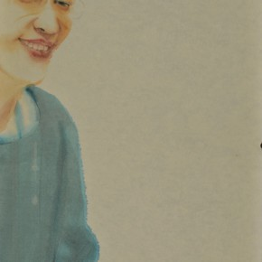Li Fan, Cheating, 2009; acrylic on rice paper, 148x78cm(2)