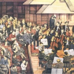 Li Fan, Concerto, 1995; lithograph, 46.5x39.5cm