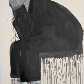 Li Fan, Dirty Socks《脏袜子》2006年200x140cm油漆亚麻布