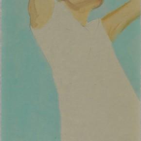 Li Fan, Evading, 2009; acrylic on rice paper, 148x78cm