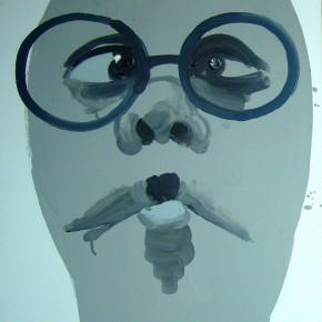 Li Fan, Fish Mouth, 2006; paint on linen, 80x60cm
