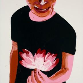 Li Fan, Flore scene, 2007; enamel paint on canvas, 250x180cm