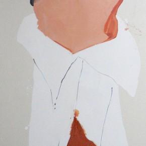 Li Fan, Headstand, 2006; paint on linen, 250x90cm