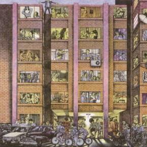 Li Fan, Northward Building, 1995; lithograph, 46.5x39.5cm