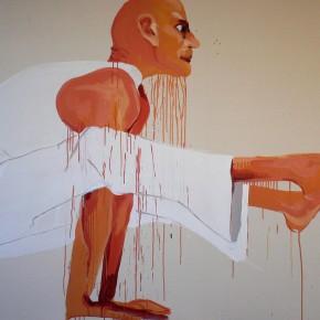Li Fan, Oriental Magician, 1996; paint on linen, 183x90.5cm