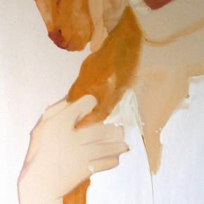 Li Fan, Pet, 1996; Paint on linen, 183x90.5cm