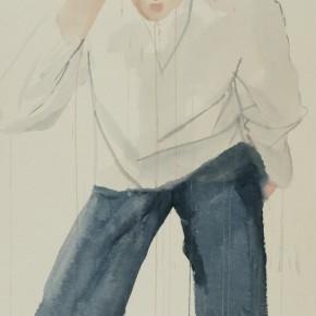 Li Fan, Secret, 2004; Acrylic on hemp paper, 220x110cm