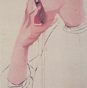 Li Fan, Shock, 2006; Acrylic on paper,  148x75cm