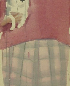 Li Fan, State, 2004; watercolor, acrylic on hemp paper, 275x65cm