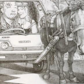 Li Fan, Take a Rest, 1995; lithograph, 19.5×23cm