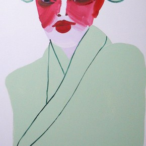 Li Fan, Thanksgiving Drama, 1996; paint on linen, 183x90.5cm