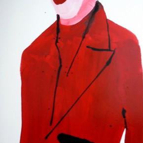 Li Fan, The Devil Inside, 1996; paint on linen, 183x90.5cm