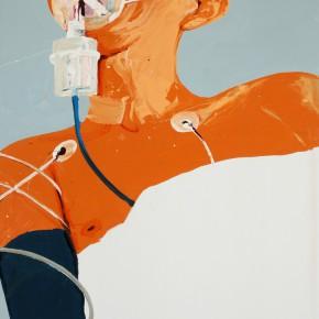 Li Fan, oxygen-poor, 2007; paint on linen, 250x180cm