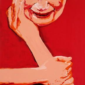 Li Fan, separate, 2007; Paint on linen, 250x180cm