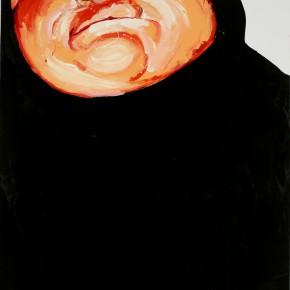 Li Fan, wrap up, 2007; paint on linen, 250x180cm