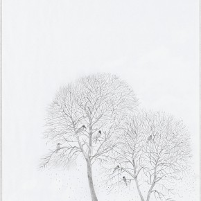 Shen Ling The First Snow 2012 2012 drawing1 290x290 - Flowers and Birds: Shen Ling Solo Exhibition Opened at the Hive Center for Contemporary Art