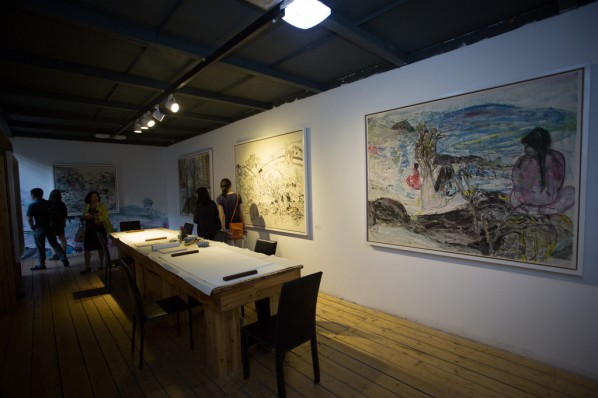 """18 Installation view of the opening ceremony of """"Today I Blossom – Tongxi Xiaochan's Unrestrained Poetry and Painting"""""""