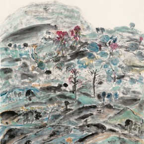 """21 Tongxi Xiaochan """"Existence"""" 145 x 182 cm 2008 290x290 - """"Today I Blossom – Tongxi Xiaochan's Unrestrained Poetry and Painting"""" Opened at 798 Art Center"""