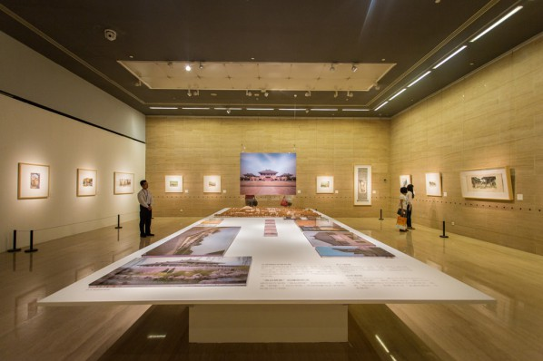 "22 Installation view of the ""Artistic Conception of Human Settlements – Exhibition of Paintings, Calligraphy and Architecture Designs of Wu Liangyong"""
