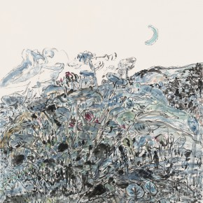 """25 Tongxi Xiaochan """"Moonlit Light"""" 182 x 145 cm 2008 290x290 - """"Today I Blossom – Tongxi Xiaochan's Unrestrained Poetry and Painting"""" Opened at 798 Art Center"""