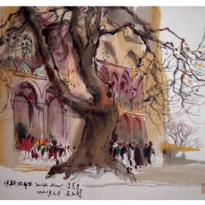 "28 Wu Liangyong ""The Istanbul Mosque"" 290x290 - ""Artistic Conception of Human Settlements – Exhibition of Wu Liangyong"" Opened at the NAMOC"