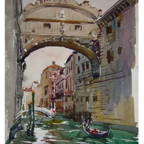 "31 Wu Liangyong ""Sigh Bridge in Venice""  290x290 - ""Artistic Conception of Human Settlements – Exhibition of Wu Liangyong"" Opened at the NAMOC"