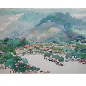 "32 Wu Liangyong ""Foothills of Taishan"" 290x290 - ""Artistic Conception of Human Settlements – Exhibition of Wu Liangyong"" Opened at the NAMOC"