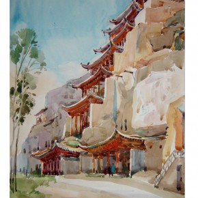 "36 Wu Liangyong ""Mogao Grottoes in Dunhuang"" 290x290 - ""Artistic Conception of Human Settlements – Exhibition of Wu Liangyong"" Opened at the NAMOC"