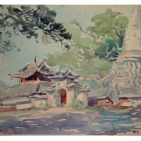 "38 Wu Liangyong ""The Myanmar Temple in Mang City Yunnan""  290x290 - ""Artistic Conception of Human Settlements – Exhibition of Wu Liangyong"" Opened at the NAMOC"