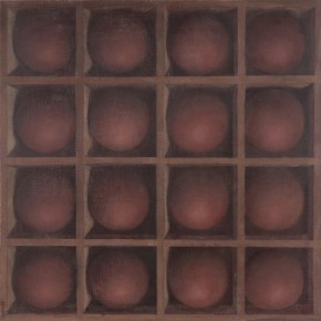 "Ji Xin ""16 Spheres No.1"" oil on canvas 40 x 40 cm 2014 290x290 - Hive • Becoming IX Ji Xin: Nightingale"