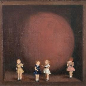 "Ji Xin ""A Sphere and Toys"" oil on canvas 30 x 30 cm 2014 290x290 - Hive • Becoming IX Ji Xin: Nightingale"